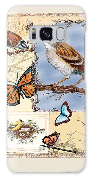 Birds And Butterflies Galaxy Case