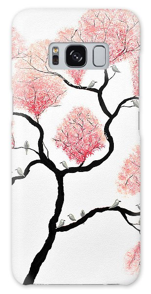 Birds And Flowers Galaxy Case