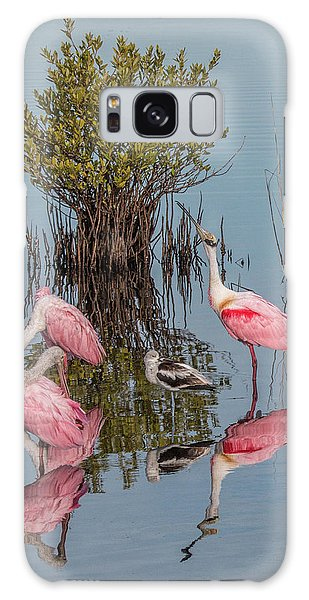 Birds And Mangrove Bush Galaxy Case