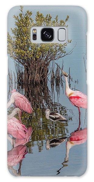 Birds And Mangrove Bush Galaxy Case