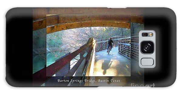 Birds Boaters And Bridges Of Barton Springs - Bridges One Greeting Card Poster V2 Galaxy Case by Felipe Adan Lerma