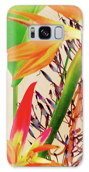 Birds Bromeliads Halyconia Galaxy Case