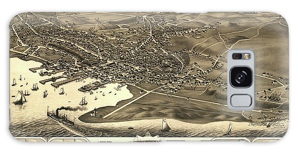 Stone Galaxy Case - Bird's Eye View Of The Town Of Nantucket In The State Of Massachusetts by Stoner