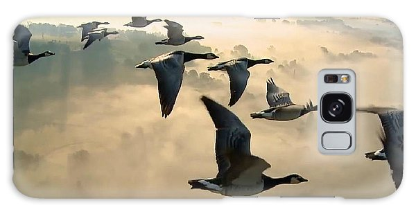 Birds In Flight Galaxy Case
