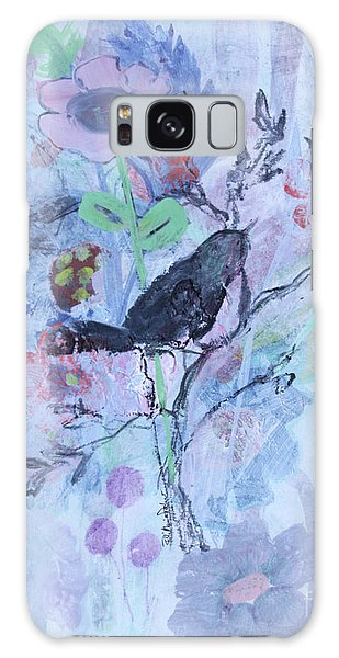 Galaxy Case featuring the painting Birds Just Wanna Have Fun by Robin Maria Pedrero