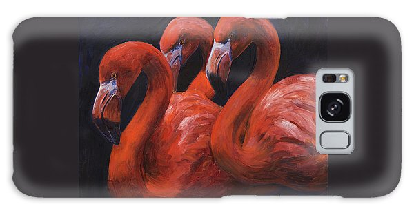 Birds Of A Feather Galaxy Case by Billie Colson