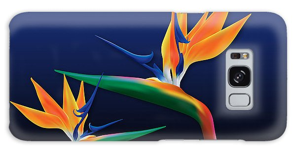 Birds Of Paradise Galaxy Case by Kenneth Armand Johnson