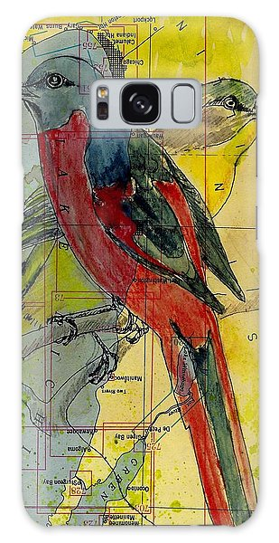 Birds On A Map Galaxy Case