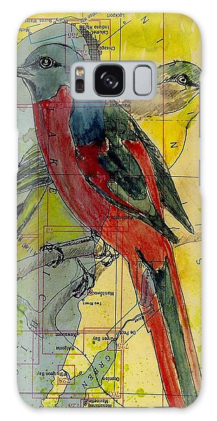 Birds On A Map Galaxy Case