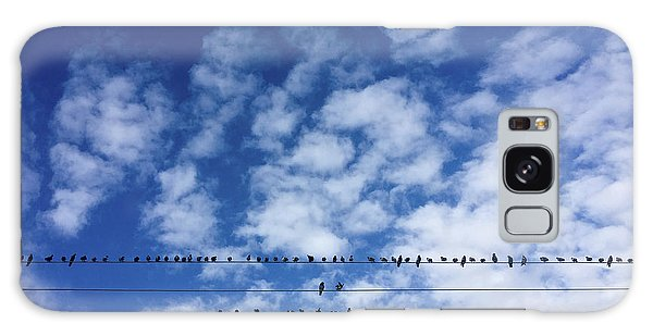 Birds On Wire Galaxy Case