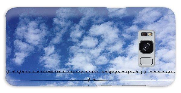 Birds On Wire Galaxy Case