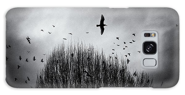 Birds Over Bush Galaxy Case