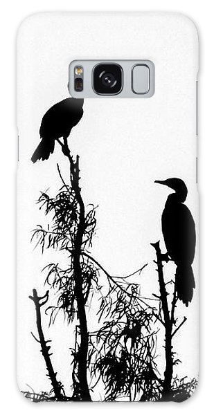 Birds Perched On Branches Galaxy Case