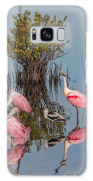 Birds, Reflections, And Mangrove Bush Galaxy Case