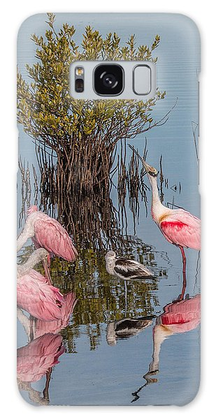 Birds, Reflections, And Mangrove Bush Galaxy Case