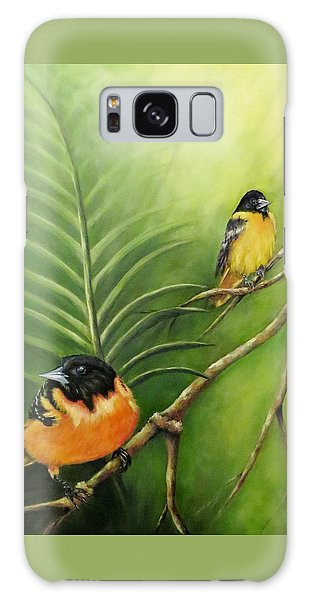 On The Lookout, Birds  Galaxy Case