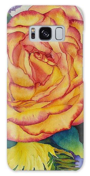 Birthday Rose Galaxy Case by Judy Mercer
