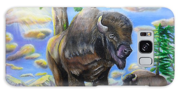 Bison Acrylic Painting Galaxy Case