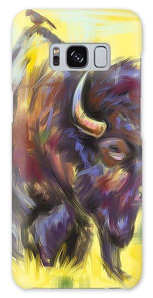 Bison And Bird Galaxy Case by Go Van Kampen