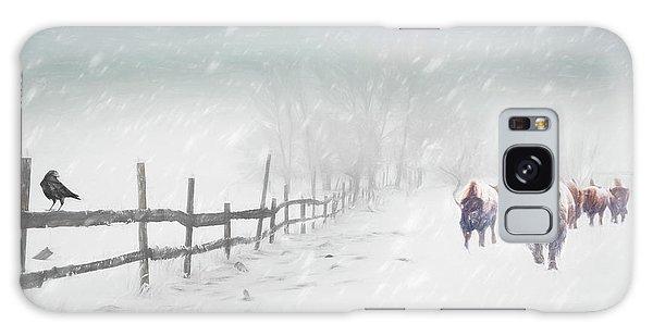 Bison In Winter Galaxy Case