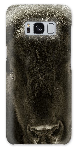 Bison Surprise Galaxy Case by Elizabeth Eldridge