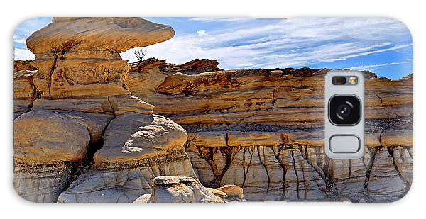 Galaxy Case featuring the photograph Bisti Badlands Formations - New Mexico - Landscape by Jason Politte