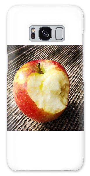 Food And Beverage Galaxy Case - Bitten Red Apple by Matthias Hauser