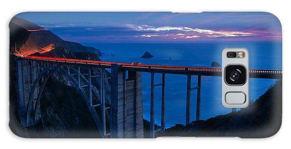 Bixby Canyon Bridge Sunset Galaxy Case