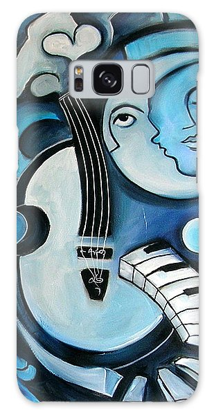 Moon Galaxy Case - Black And Bleu by Valerie Vescovi