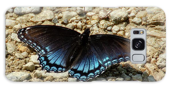 Black And Blue Monarch Butterfly Galaxy Case