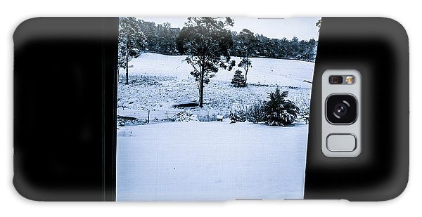 Cold Day Galaxy Case - Black And Blue Snow Landscape by Jorgo Photography - Wall Art Gallery