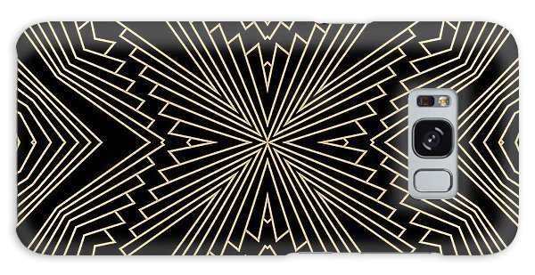 Black And Gold Art Deco Filigree 003 Galaxy Case