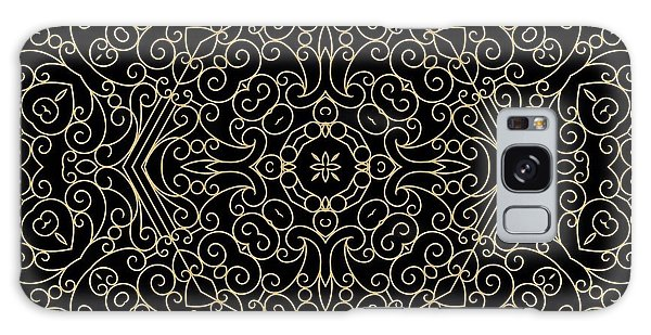 Black And Gold Filigree 002 Galaxy Case