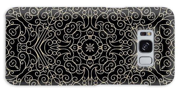 Black And Gold Filigree 002 Galaxy Case