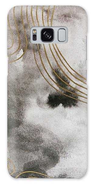 Black And Gold Watercolor Galaxy Case