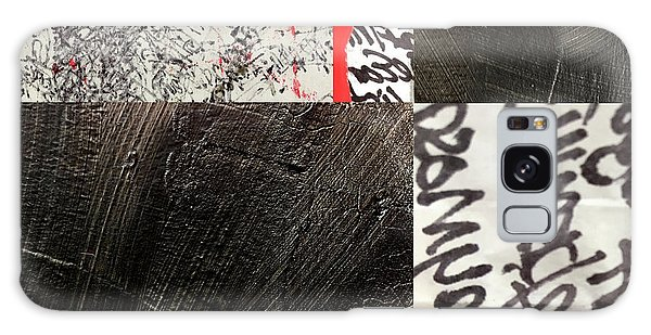 Galaxy Case featuring the painting Black And Red 3 by Nancy Merkle