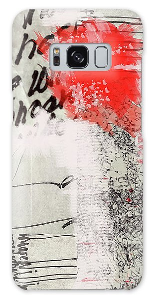 Galaxy Case featuring the painting Black And Red 4 by Nancy Merkle