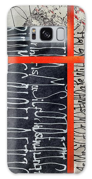 Galaxy Case featuring the painting Black And Red 7 by Nancy Merkle