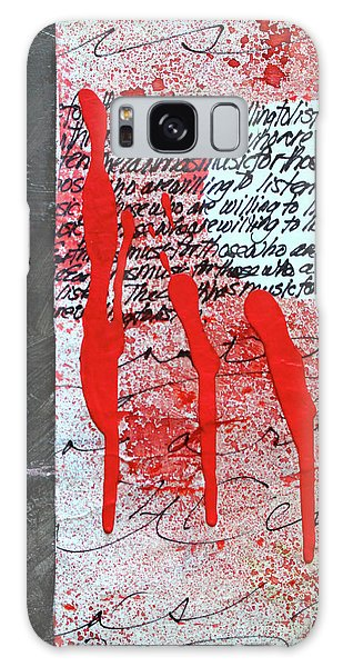 Galaxy Case featuring the painting Black And Red 8 by Nancy Merkle