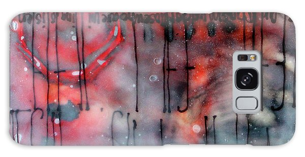 Galaxy Case featuring the painting Black And Red Encaustic 4 by Nancy Merkle