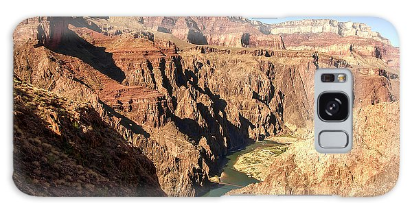 Black And Silver Bridges Spanning The Colorado River  Grand Canyon National Park Galaxy Case