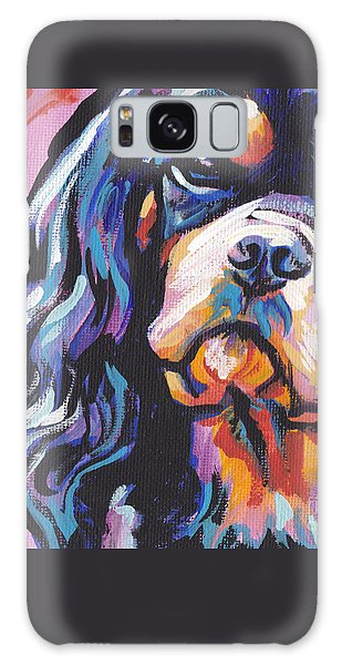 Black And Tan Cav Galaxy Case