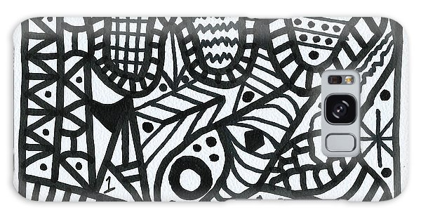 Black And White 1 Galaxy Case