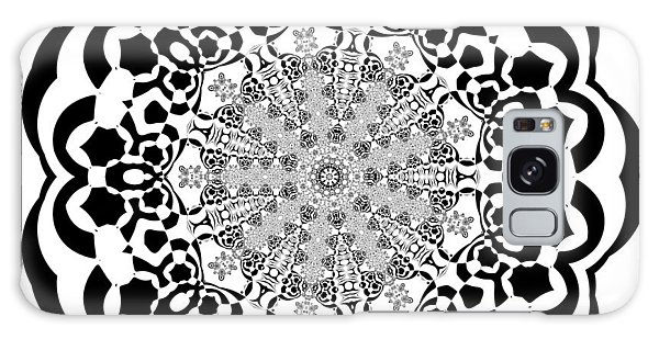 Galaxy Case featuring the digital art Black And White 4 by Robert Thalmeier