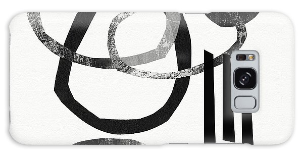 Black And White- Abstract Art Galaxy Case