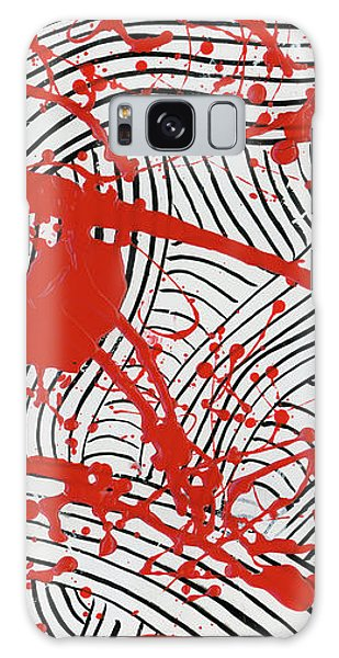 Black And White And Red All Over 2 Galaxy Case