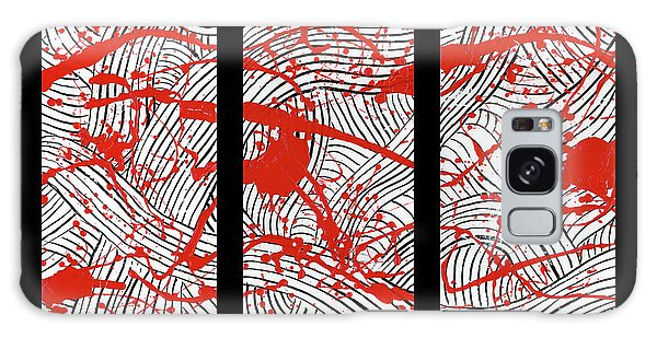 Black And White And Red All Over Galaxy Case