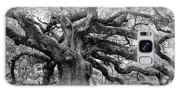 Black And White Angel Oak Tree Galaxy Case