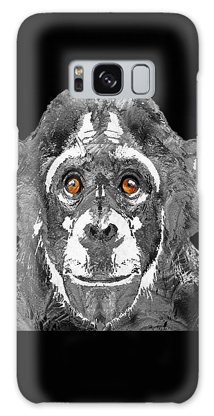 Black And White Art - Monkey Business 2 - By Sharon Cummings Galaxy Case