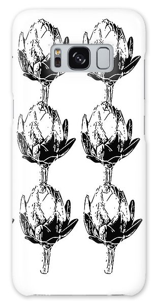 Black And White Artichokes- Art By Linda Woods Galaxy Case by Linda Woods
